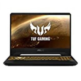 "ASUS TUF Gaming FX505DT-BQ121 - Portátil Gaming 15.6"" FullHD (Ryzen 7 3750H, 16GB RAM, 512GB SSD, NVIDIA GeForce GTX1650-4GB, Sin Sistema Operativo) Negro - Teclado QWERTY Español"