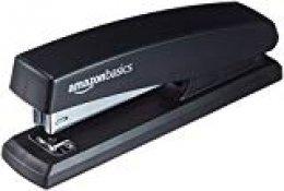 AmazonBasics - Grapadora con capacidad 200 grapas, Negro, 16 unidades