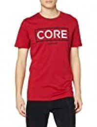 Jack & Jones JCOBOOSTER tee SS Crew Neck Oct 19 Camiseta, Rojo (Rio Red Fit: Slim), M para Hombre