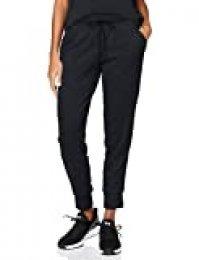 Under Armour Tech Pant 2.0, Pantalones Deportivos Mujer, Negro (Black/Metallic Silver), L