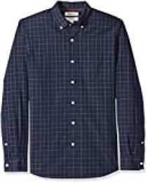 Goodthreads Slim-fit Long-Sleeve Plaid Poplin Shirt with Button-Down Collar Hombre