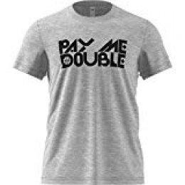 adidas Pay Me Double T-Shirt de Baloncesto, Hombre