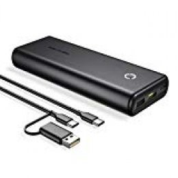POWERADD EnergyCell 20000mAh Powerbank con Power Delivery, PD18W Batería Externa con Puerto USB C, Carga Rápida para iPhone,Samsung,Huawei y Otros Dispositivos Inteligentes- Negro