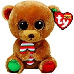 Ty TY-37240 Beanie Boos Navidad Bella - Osita Marrón 15 cm (37240TY), Multicolor (United Labels Ibérica