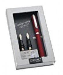 Online Schreibgeräte 36647 - Set plumas de caligrafía, color rojo