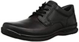 Hotter Burton, Zapatos de Cordones Derby para Hombre, Black (Black 1), 42.5 EU