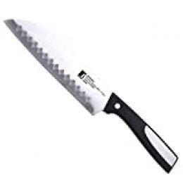 Bergner Resa - Cuchillo santoku de acero inoxidable, 17,5 cm