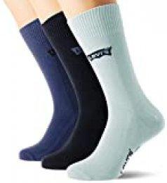 Levi's Batwing Logo Regular Cut Socks (3 Pack) CALCET, capuchina, 39/42 (Pack de 3) Unisex adulto