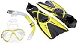 Mares X-One Marea - Set de Buceo, Color Amarillo, Talla M-L