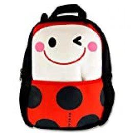 Premier Stationery Emotionery Neoprene Cute Animal Junior Backpack - Ladybug Mochila Infantil 27 Centimeters 4 Multicolor (Red)