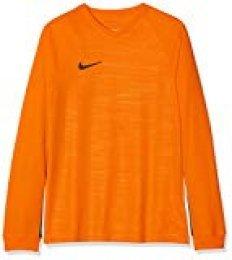 Nike Y NK Dry Tiempo Prem JSY LS Camiseta Fútbol, Unisex niños, University Gold/University Gold/Black, S