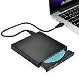 TOPELEK UD28B - Grabadora y Lector de CD/DVD para Windows y Mac OS, Negro