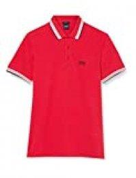 BOSS Paddy Camisa de Polo, Rojo Brillante, L para Hombre