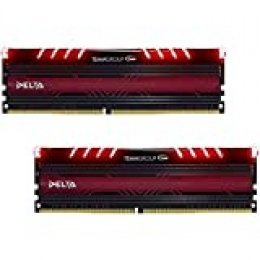 Team Group Delta Red 16GB (8GBx2) DDR4-2400MHz módulo de - Memoria (16 GB, 2 x 8 GB, DDR4, 2400 MHz, 288-pin DIMM, Rojo)