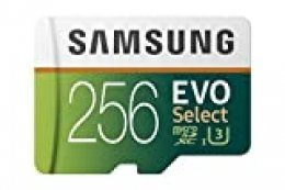 Samsung EVO Select 256 GB microSD 100 MB/s, Velocidad, Full HD & 4K UHD, Tarjeta de Memoria Incluye Adaptador SD para Smartphone, Tablet, cámara de acción, dron y portátil