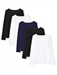 Maglev Essentials BDX011M5 Camiseta, Multicolor (Negro, Blanco, Navy), M, Pack de 5
