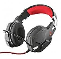 Trust Cascos Gaming GXT 322 Carus - Auriculares acolchados con malla, con micrófono flexible y potentes sonidos graves, para PS4, PS5, PC - Negro