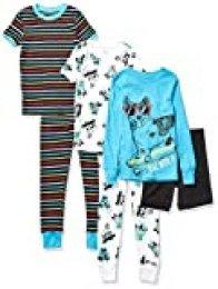 Spotted Zebra 6-Piece Snug-fit Cotton Pajama Set Unisex niños
