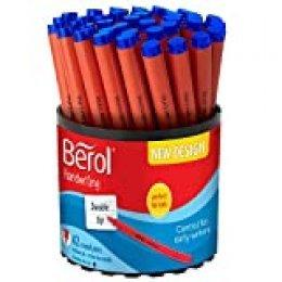 Berol - Bolígrafos para escritura (tinta azul oscuro, 42 unidades)