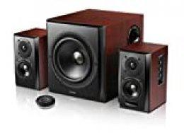 Edifier S350DB 2.1canales 150W Negro, Madera Conjunto de Altavoces - Set de Altavoces (2.1 Canales, 150 W, Universal, Negro, Madera, Madera, Inalámbrico)