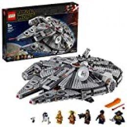 LEGO Star Wars TM - Halcón Milenario, Juguete de Construcción de Nave Espacial, Incluye Minifiguras de Finn, Chewbacca, Lando, C-3PO, R2-D2 y otros, Inspirado en La Guerra de Las Galaxias (75257)
