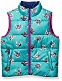 Spotted Zebra Reversible Puffer Vest apparel, Cats/Navy, 24 meses