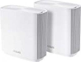 ASUS ZenWifi CT8 - Sistema Wi-Fi Mesh Tri-Banda AC3000, Pack de 2 (Cobertura de más de 500m2, AiProtection con TrendMicro, 4 Puertos Gigabit, Adaptive QoS, Compatible con AiMesh) Blanco