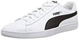 PUMA Smash V2 L, Zapatillas Unisex-Adulto, Blanco White Black, 41 EU