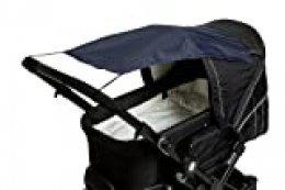 Altabebe AL7010-01 - Parasol con protección UV para carrito o silla de paseo, color azul marino