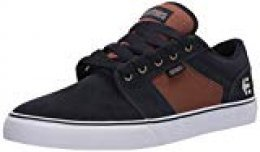 Etnies Barge Ls, Zapatillas de Skateboard para Hombre, Dark Grey/Grey/Red, Schwarz