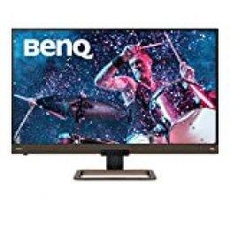"BenQ EW3280U - Monitor de 32"" 4K UHD (3840x2160, 5 ms, 60 Hz, HDMI, USB-C, DCI-P3, HDR 400, Altavoces, Mando a Distancia, FreeSync) - Marron / Negro metálico"