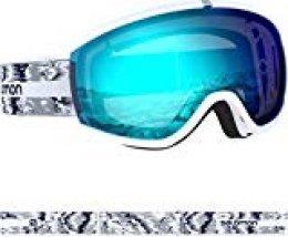 Salomon, IVY, Máscara de esquí de mujer, Blanco (White Glitch)/Azul (Universal Mid Blue), L40846900