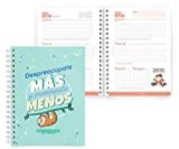 Miquel Rius Agenda Escolar Rígida de Espiral 155x213 Mm Semana Vista 2020 MissBorderlike Despreocupate Aguamarina Castellano