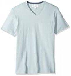 Marca Amazon - Goodthreads: camiseta de ante de manga corta con cuello en V y bolsillo para hombre