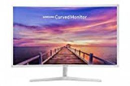 "Samsung C32F395 - Monitor Curvo de 32"" (Full HD, 4 ms, 60 Hz, LED, 16:9, 3000:1, 1800R, 250 cd/m², 178°, HDMI, Base Redonda) Blanco"