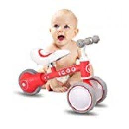 HILAND IQOO - Bicicleta Infantil para niños y niñas, 1 2 o 3 años, Color Rojo