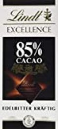 Lindt Excellence – Tableta de chocolate negro 85% cacao, 100 g