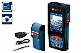 Bosch Professional GLM 120 C - Medidor láser de distancias (batería de litio integrada, alcance 120 m, inclinómetro, conexión Bluetooth, con funda)
