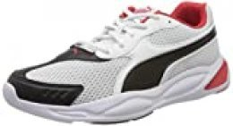 PUMA 90S Runner, Zapatillas Unisex Adulto, Blanco White Black/High Risk Red 04, 41 EU
