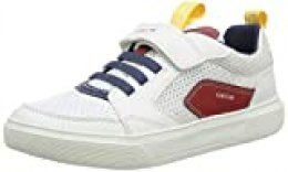 Geox J Nettuno Boy C, Zapatillas para Niños, Blanco (White/Red C0050), 33 EU