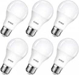 LVWIT Bombillas LED A60, Casquillo E27, 8.5W equivalente a 60W, 6500K Luz Blanca Fría, 806 lm, Bajo consumo, No regulable - Pack de 6 Unidades.