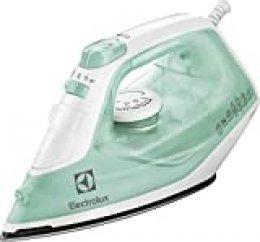 Electrolux EDB1720 - Plancha (Plancha vapor-seco, Suela de acero inoxidable, 1,95 m, 80 g/min, Color menta, Blanco, 30 g/min)