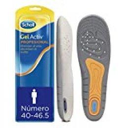 Scholl Plantillas Gel Activ Profesional para hombre, para calzado trabajo, absorción de impactos y amortiguación, talla 40 - 46.5, 1 par (2 plantillas)