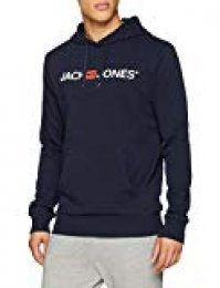 JACK & JONES Jjecorp Logo Sweat Hood Noos Capucha, Azul (Navy Blazer Detail: Reg Fit), X-Small para Hombre