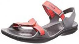 Crocs W Swiftwater Webbing Sandal 204804, Sandalias con Punta Abierta para Mujer