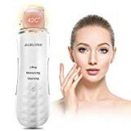 AUKUYEE Espatula Ultrasonic Dispositivo,Ultrasónico de Limpieza de la piel Facial,Depurador de piel facial portátil para Peeling facial poros Limpiador de la piel Dispositivo de belleza para el hogar