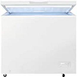 Zanussi ZCAN26FW1 Arcón congelador, Capacidad 254 Litros, 2 cestos, Compresor Inverter, Congelación Rápida, Display LCD, Alarma acústica y visual luminosa, Blanco, Clase A+