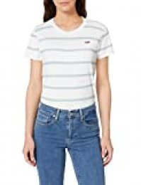 Levi's Perfect-tee Camiseta de Manga Corta, Multicolor (Alyssa Stripe Cloud Dancer 0062), Small para Mujer