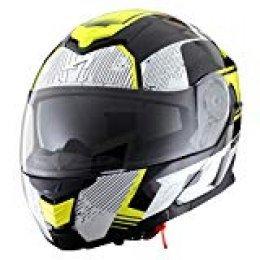 Astone Helmets - RT1200 Graphic VIP- Casque de moto modulable - Casque de moto polyvalent - Casque de moto homologué - Coque en polycarbonate - black/white/yellow fluo XL