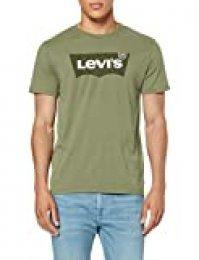 Levi's Housemark Graphic tee Camiseta, Verde (Hm Ssnl Emb Aloe 0250), L para Hombre